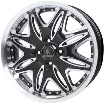 タイヤはフジ 送料無料 OFFBEAT ブラックダイヤモンド BD01 5.5J 5.50-16 YOKOHAMA アドバン フレバV701 165/50R16 16インチ サマータイヤ ホイール4本セット