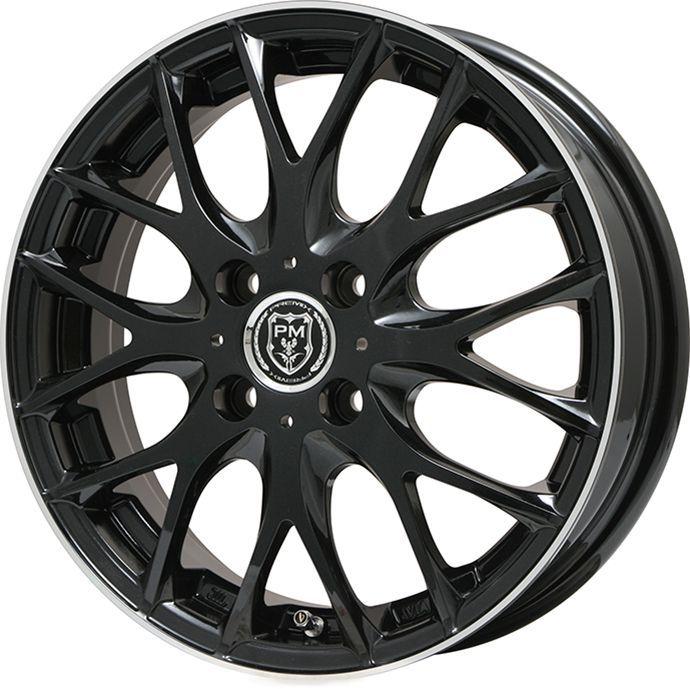 タイヤはフジ 送料無料 PREMIX プレミックス グラッパ(ブラック/リムポリッシュ) 5J 5.00-16 KUMHO エクスタ HS51 165/50R16 16インチ サマータイヤ ホイール4本セット