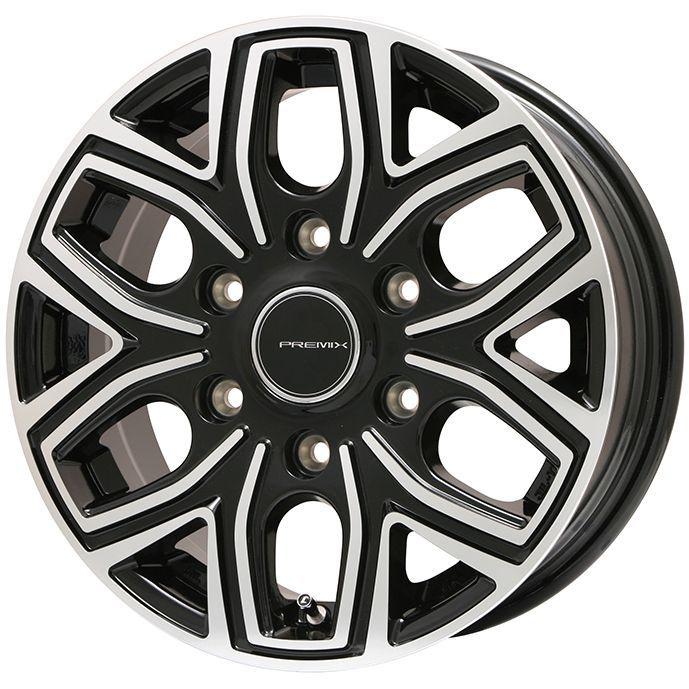 タイヤはフジ 送料無料 NV350キャラバン PREMIX プレミックス 飛車(ブラックポリッシュ) 6.5J 6.50-16 YOKOHAMA PARADA PA03 215/65R16 16インチ サマータイヤ ホイール4本セット