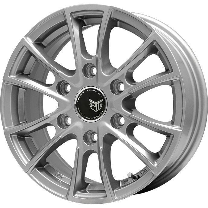 タイヤはフジ 送料無料 NV350キャラバン BRANDLE ブランドル 775 6J 6.00-15 MICHELIN アジリス 195/80R15 15インチ サマータイヤ ホイール4本セット