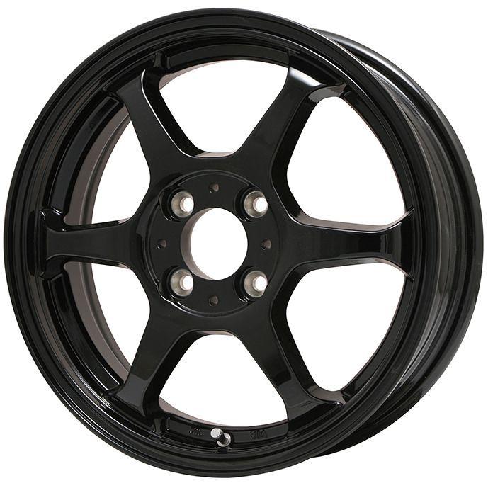 タイヤはフジ 送料無料 LEHRMEISTER リアルスポーツ カリスマVS6 4.5J 4.50-14 INTERSTATE インターステート ツーリングGT(限定) 165/65R14 14インチ サマータイヤ ホイール4本セット