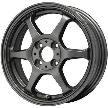 タイヤはフジ 送料無料 LEHRMEISTER リアルスポーツ カリスマVS6 5J 5.00-14 YOKOHAMA ブルーアース RV-02CK 165/65R14 14インチ サマータイヤ ホイール4本セット