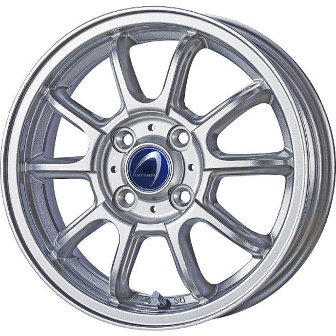 タイヤはフジ 送料無料 TECHNOPIA テクノピア アルテミス LSW 5.5J 5.50-14 YOKOHAMA ブルーアース A(AE50) 175/70R14 14インチ サマータイヤ ホイール4本セット