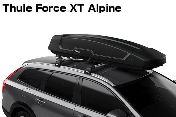 送料無料(一部離島除く) ※個人宅配送不可 THULE スーリー Force XT Alpine(ブラック) ルーフボックス フジコーポレーション