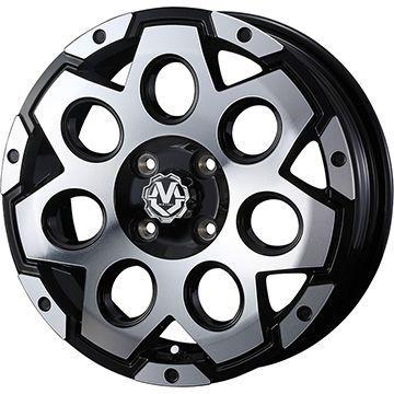 タイヤはフジ 送料無料 WEDS ウェッズ マッドヴァンス 03 4J 4.00-12 YOKOHAMA DNA エコス 135/80R12 12インチ サマータイヤ ホイール4本セット
