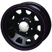 【送料無料】 AWC デイトナIIリバース ブラック ホイール単品4本セット 7.00-16 16インチ