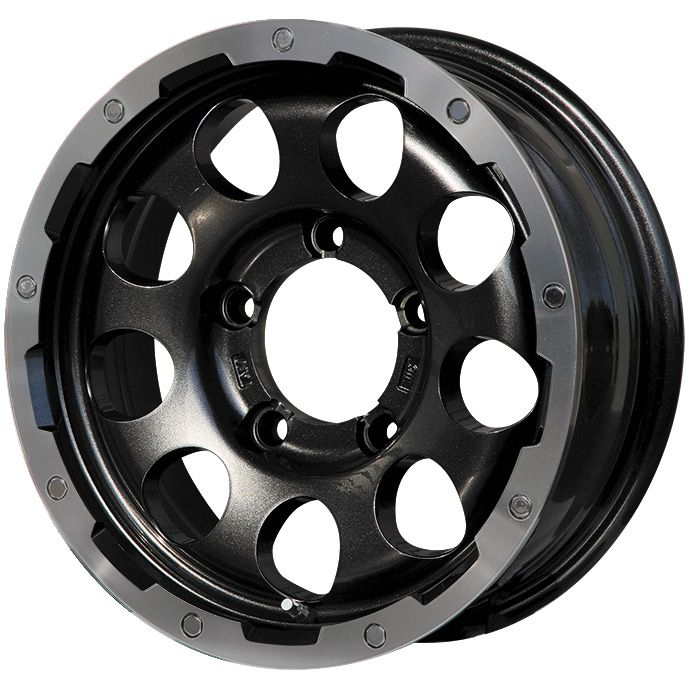 【送料無料】 LEHRMEISTER LMG CS-9 ブラック/ブラッククリアリム ホイール単品4本セット 5.50-15 15インチ