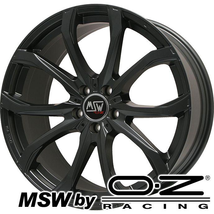 【取付対象】 【送料無料】 215/55R17 17インチ MSW by OZ Racing MSW 48(マットブラック) 7.5J 7.50-17 MICHELIN ミシュラン クロスクライメート プラス オールシーズンタイヤ ホイール4本セット