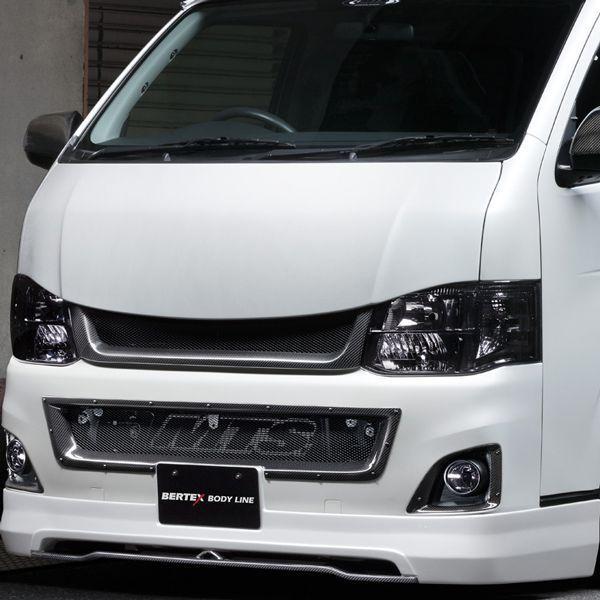 送料無料(一部離島除く) ※個人宅配送不可 M-TECHNO エムテクノ ADVANCE FRONT LIP FRP トヨタ ハイエース(2004~ 200系 )