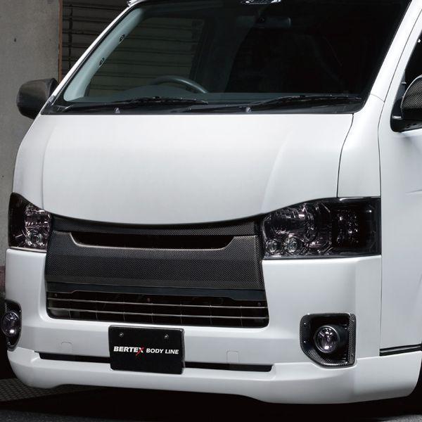 送料無料(一部離島除く) ※個人宅配送不可 M-TECHNO エムテクノ Style-S FRONT LIP FRP トヨタ ハイエース(2004~ 200系 )