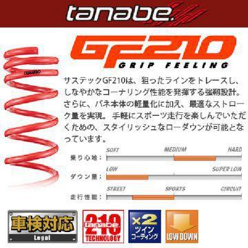 送料無料(一部離島除く) TANABE タナベ サスペンション GF210 スズキ スイフトスポーツ(2017~ Z系 ZC33S)