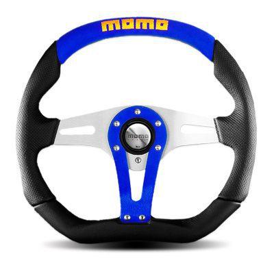 【在庫あり】【並行輸入品】送料無料(一部離島除く) MOMO モモ ハンドル ステアリング TREK BLUE トレック ブルー 35Φ