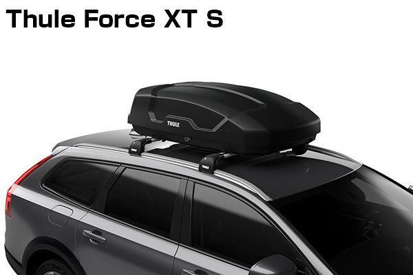 送料無料(一部離島除く) ※個人宅配送不可 THULE スーリー Force XT S(ブラック) ルーフボックス フジコーポレーション