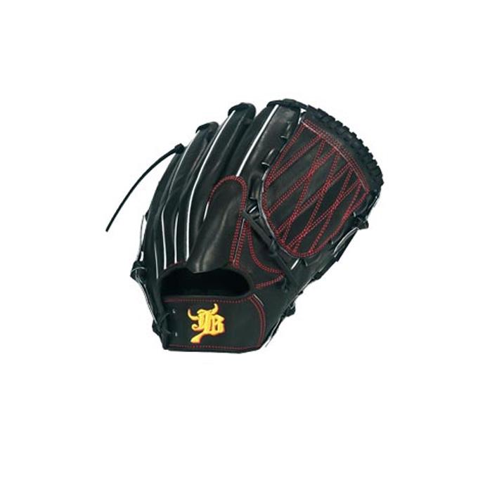 和牛JB 硬式用グラブ 投手用 JB-001Y 横捕り用 野球 グローブ 和牛 投手用向けのオーソドックスな型。 ブラック 宮崎牛 メイドインジャパン 日本製
