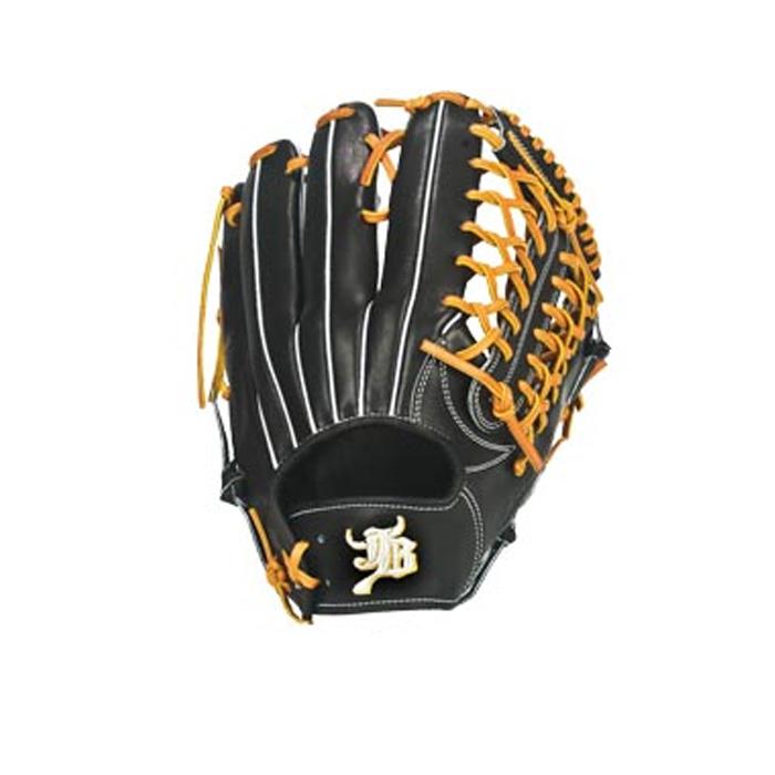 <和牛JB>硬式用グラブ【外野手用】JB-007 野球 グローブ 和牛 ブラック 外野手向けに設計された型。