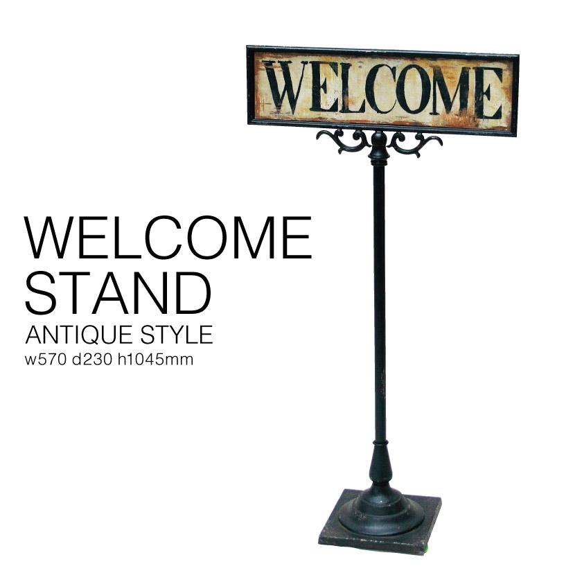 @ アイアン製 ウェルカム スタンド SPICE スパイス DRFS2110 Welcome ボード 置物 掲示 玄関 入口 客寄せ 店舗用 ディスプレイ アンティーク 雑貨 ハンドメイド