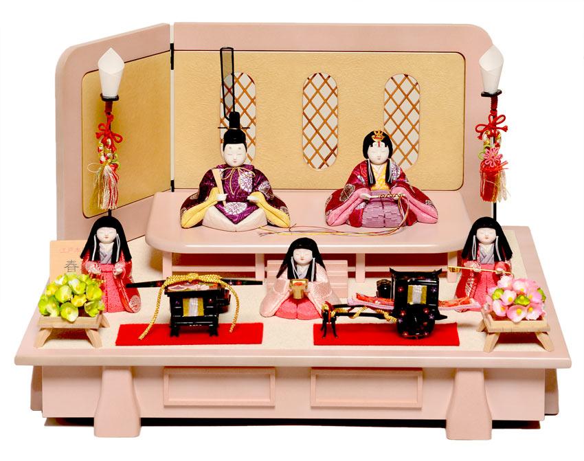 【雛人形】【木目込五人飾】 五人飾:春和雛:柿沼東光作【ひな人形】【木目込】