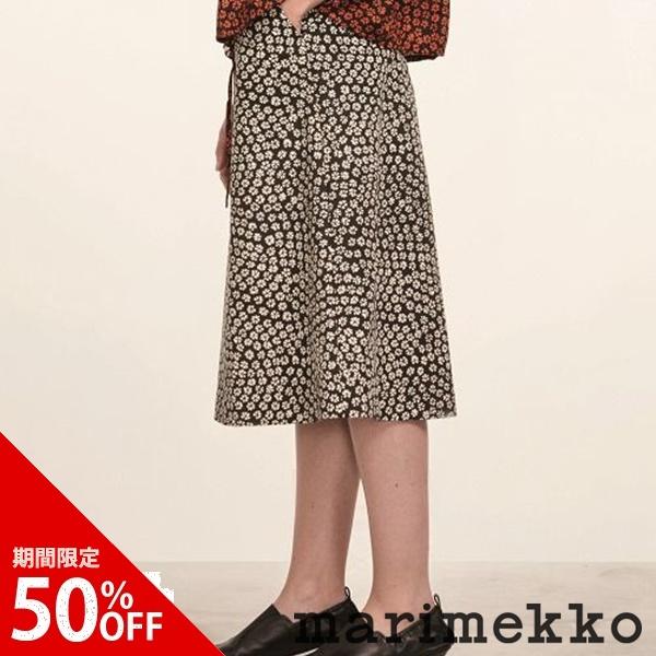 【期間限定50%オフ】マリメッコ Marimekko/ Leeni スカート / ブラック×ベージュ