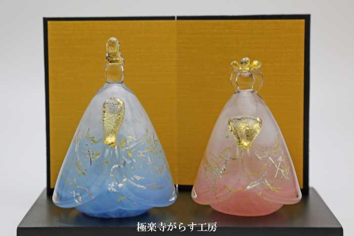 「 小春雛 」ガラスのお雛様 雛人形 節句人形 手作り ひな人形 ひな祭り 通販 販売