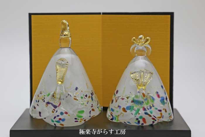 「 錦雪雛 」ガラスのお雛様 雛人形 節句人形 手作り ひな人形 ひな祭り 通販 販売