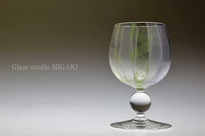 ガラス作家 三垣祥太郎 ガラス ワイングラス 人気ブレゼント! ゴブレット 誕生日プレゼント タンブラー レースガラス 通販 販売 父の日プレゼント