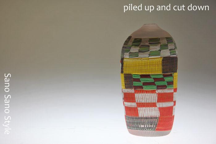 Crazy quilt 花器結婚祝いにぴったりのガラス製の花器・花瓶・フラワーベースの通販・販売