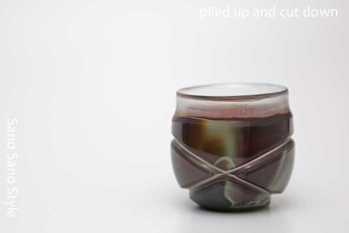 削りだしぐいのみ(茶)酒器・グラス・プレゼント・ギフト・父の日・還暦・誕生日・退職祝い