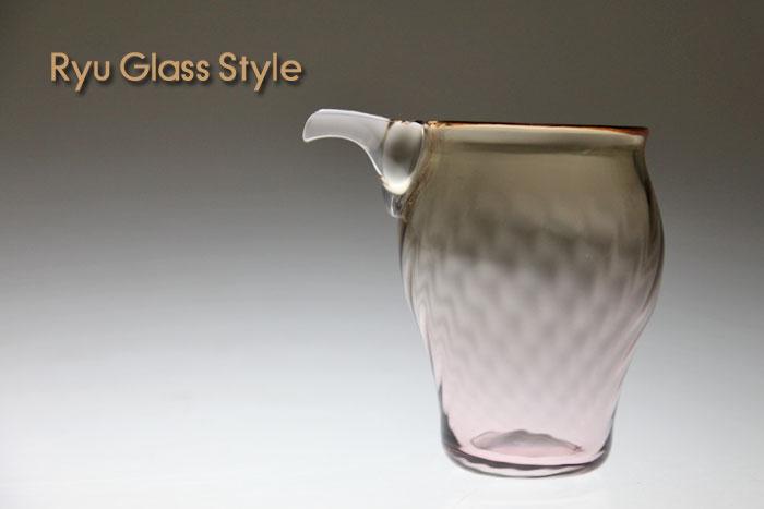 ガラス作家 佐々木龍彦 ガラス酒器 和食器販売 セール NEW ARRIVAL 父の日プレゼントに モール酒器薄紅色ガラス酒器 通販 焼酎や日本酒