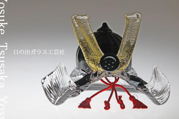 【送料無料】「ガラスの兜 黒」兜・端午の節句・五月人形・節句・5月5日・販売・通販・お祝い・ギフトプレゼントに
