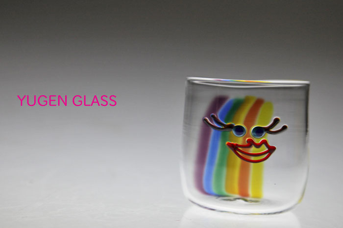 Rainbow Color Mama Smile Glass Tumbler Store Sales Birthday Gifts Fathers Day Mothers Wedding Celebration In