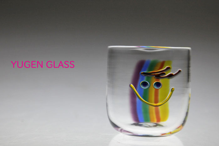 Rainbow Color Boy Smile Glass Tumbler Store Sales Birthday Gifts Fathers Day Mothers Wedding Celebration In