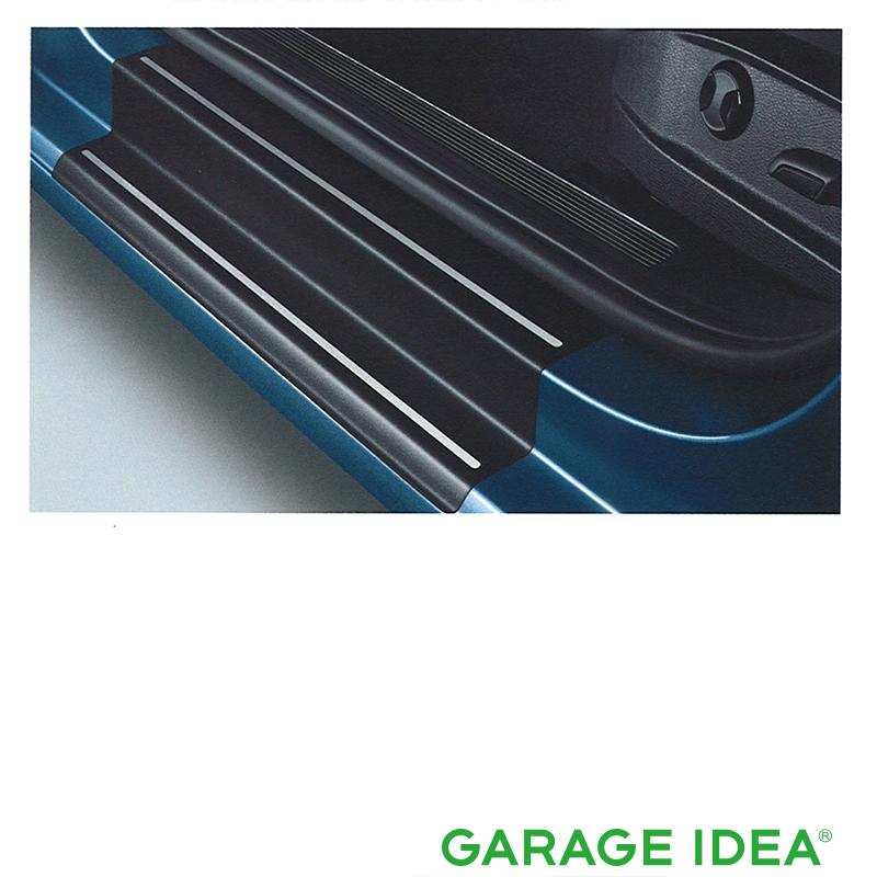 フォルクスワーゲン Volkswagen 純正 アクセサリー Golf【ゴルフ】ドアシルプロテクションフィルム(ブラック:シルバーライン)【5G0071310A19A】DBA-AUCJZ DBA-AUCPT パーツ