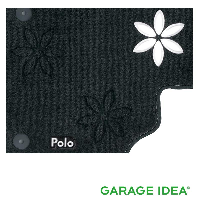 フォルクスワーゲン Volkswagen 純正アクセサリー New Polo【ポロ】フロアマット(フラワー)ホワイト【J2GBM5R18FLW】ABA-AWCHZ ABA-AWCZP パーツ