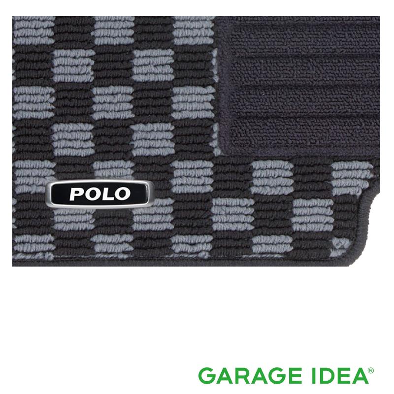 フォルクスワーゲン Volkswagen 純正アクセサリー New Polo【ポロ】フロアマット(チェック)【J2GBM5R18GRB】ABA-AWCHZ ABA-AWCZP パーツ