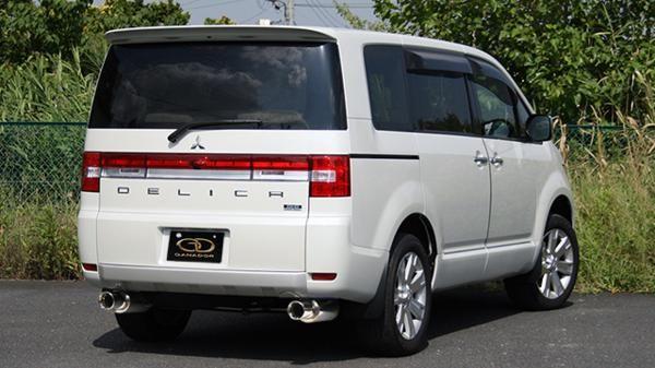 ■ガナドールマフラー GANADOR LDA-CV1W デリカ DELICA D:5クリーンディーゼル 4N14 (2,267cc) 98φサークル(左右出し) Vertex 4WD/SUV 激安魔王