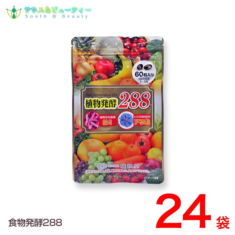 植物発酵288 60粒 24袋 廣貫堂リニューアル 155種類から288種類になりました植物発酵エキス 植物性乳酸菌 アマニ油 酵素サプリメント 酵素ダイエット