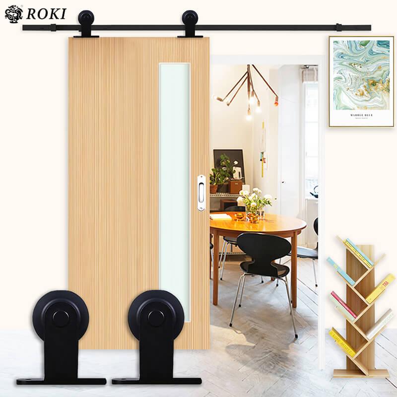 It is hanging hanging door hanging car pulley room indoor interior bedroom  restroom storing partitioning warehouse DIY in upper open design room door