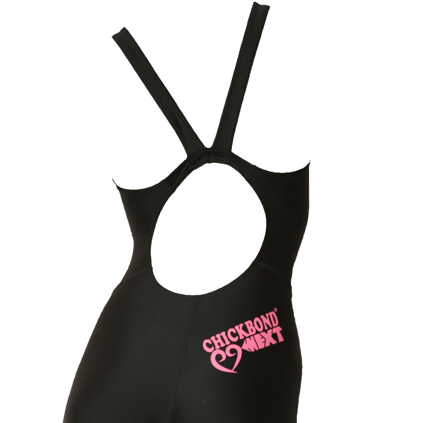Swimming race bathing suit ladies practice all-in-one half spats