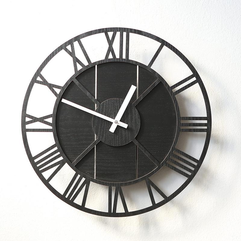 【対象商品ポイント15倍】【スーパーDEAL開催中】gms01777  掛け時計 おしゃれ 店舗 木 大きい 高級 モダン 英数字 デザイン 掛け時計