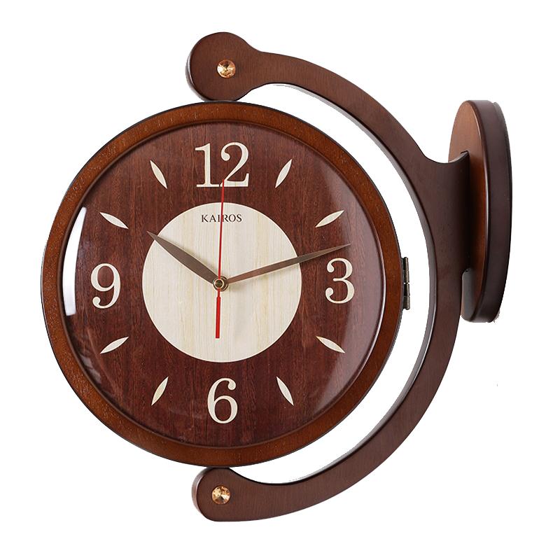 【スーパーセール開催中】【最大50%OFF】GMS02092 G-HOUSE 両面時計 壁掛け時計 時計 掛け時計和室 和モダン 大きい 木
