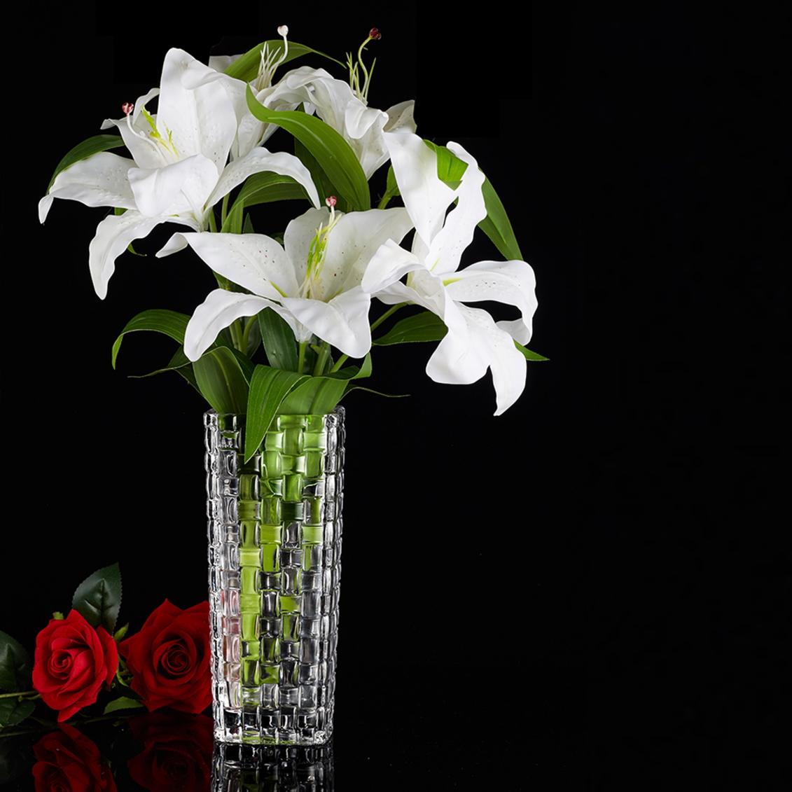 【対象商品ポイント15倍】【スーパーDEAL開催中】GMS01260 送料無料 【クリスタルガラス】 花瓶 大きな ガラス シンプル おしゃれ 大きい ギフト 大 HM-1216 【 GMS01260 】 【hween_d19】