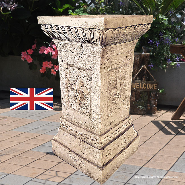 ガーデニング英国製【アンジェロ】ローマスタンドLガーゴイルと同じ石造天使オブジェを載せる台座エントランスイギリス製
