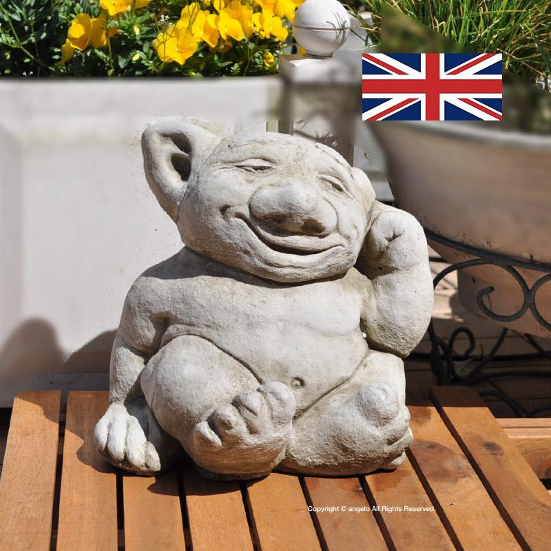 スーパーセールストーン グリフィンヨーロッパ英国製インポートガーゴイル「モンスターB」 送料無料 ガーデニング ガーデン 雑貨 オーナメント おしゃれ 置物 父の日