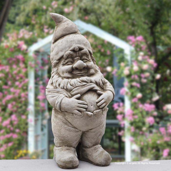 ドワーフ/インポート雑貨「おなか」ガーデンオーナメント 置物ヨーロッパ英国製 北欧神話妖精