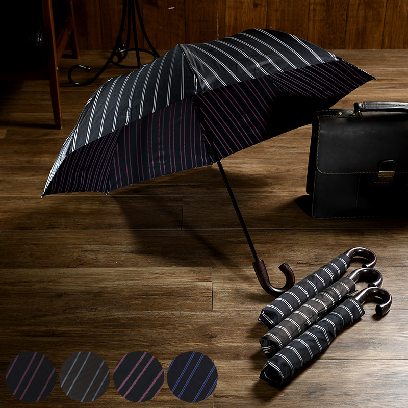 値頃 傘 メンズ ブランド 高級 Ramuda ラムダ 折りたたみ傘 8本骨 55cm 日本製 ストライプ 籐手元 おしゃれ 日本 国産 雨傘 通勤 ビジネス シンプル, 東北町 a44b089e