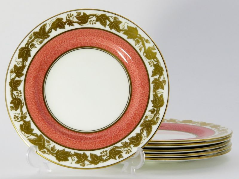ウェッジウッド プレート■ホワイトホール パウダーピンク デザートプレート 6枚セット 1級品 1