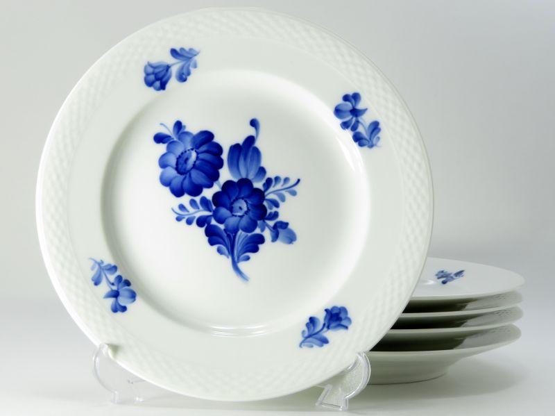 ロイヤルコペンハーゲン プレート■ブルーフラワープレイン サラダプレート 皿 5枚セット 1級品