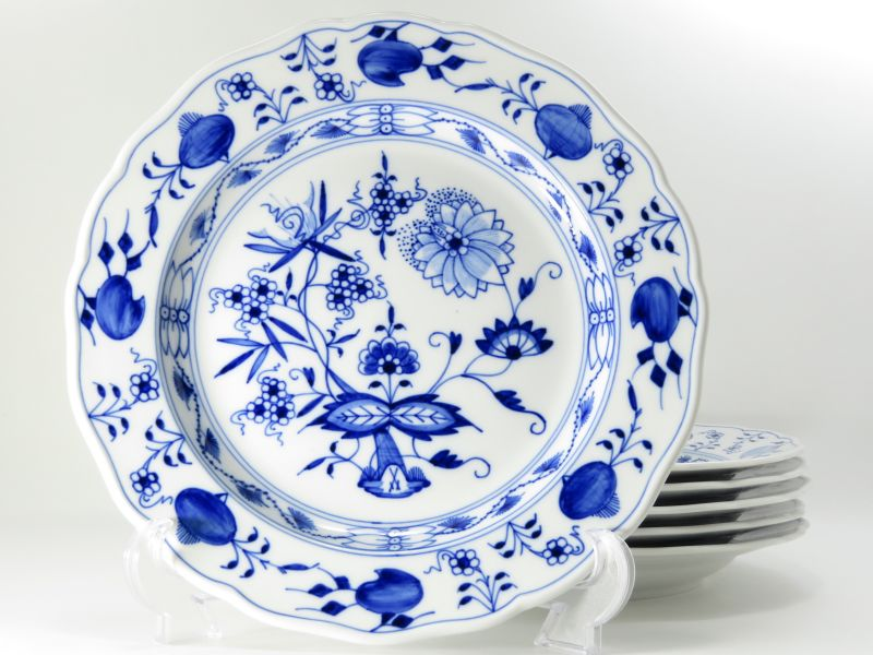 マイセン プレート■ブルーオニオン ディナープレート 大皿 6枚セット Meissen