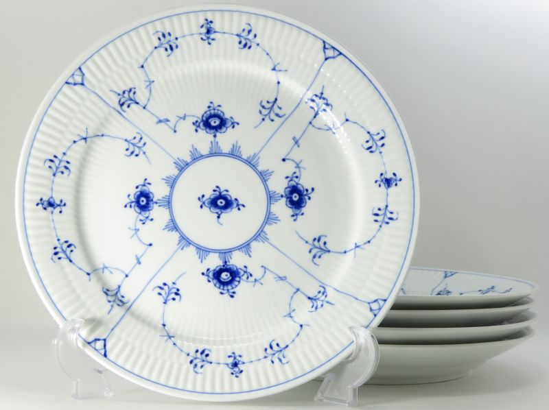 公式の  ロイヤルコペンハーゲン プレート?ブルーフルーテッド プレインレース ディナープレート 大皿 5枚 セット, ルーペスタジオ 20d7832e