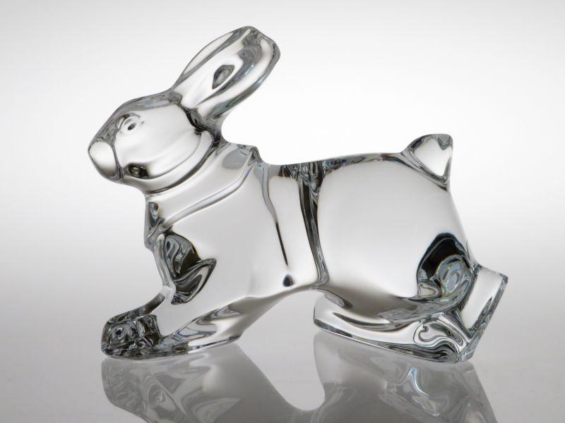 バカラ フィギュリン ● ウサギ うさぎ ラビット クリスタル 置物 オーナメント オブジェ 未使用 箱付き Rabbit